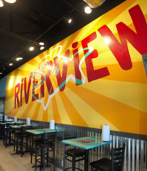 Street Murals by Bianca Burrows seen at Fuzzy's Taco Shop, Riverview - Mural