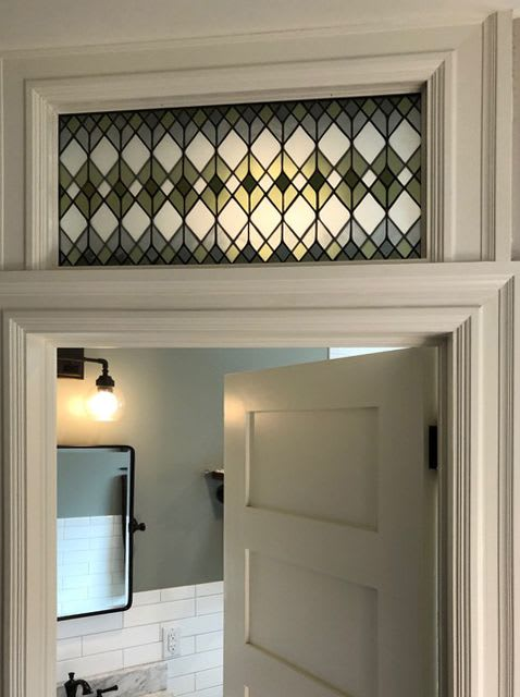 Art & Wall Decor by Bespoke Glass seen at Private Residence, Denver - Stained Glass Transom Windows - Overlapping Trada