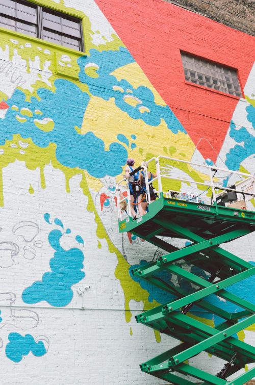 Street Murals by Heidi Unkefer seen at South Loop, Chicago - Slime Mountain