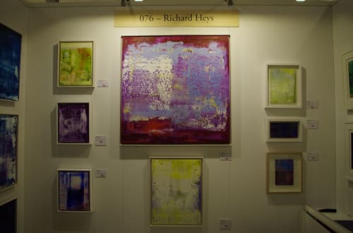 Paintings by Richard Heys seen at The Other Art Fair, London - We Stand Behind the Sky V
