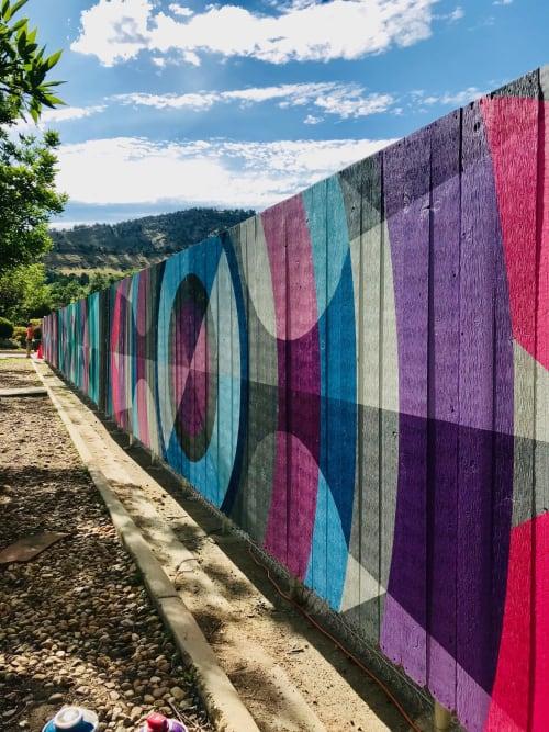 Murals by Jason T. Graves seen at Boulder, Boulder - BCH Fence Project - City Of Boulder Arts & Culture