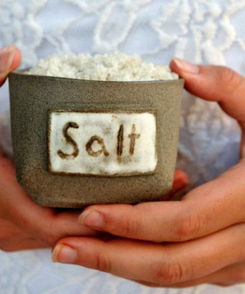 Tableware by ShellyClayspot seen at Creator's Studio, Kiryat Gat - Ceramic Salt & Pepper Cellars