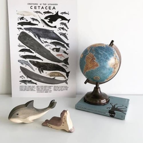 Wall Hangings by Kelsey Oseid seen at Private Residence, Auckland - Cetacea print