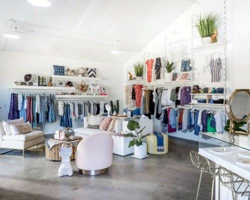 Furniture by Maneuver Works seen at hiptique, Malibu - Custom Shelves and Racks