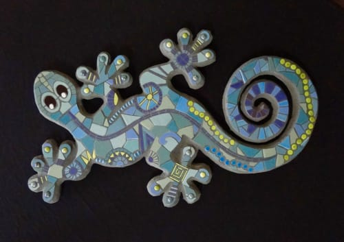 Art & Wall Decor by Wild Rose Artworks LLC seen at Private Residence, Punta Mita - Mr Gecko - tile mosaic wall hanging