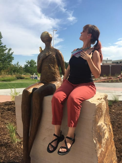 Public Sculptures by Lorri Acott seen at Front Range Community College - Larimer Campus, Fort Collins - Heartsong