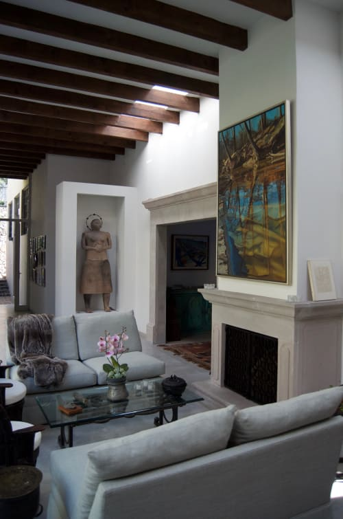 Paintings by Lynne Gleason seen at Private Residence, San Miguel de Allende - Light Incantation