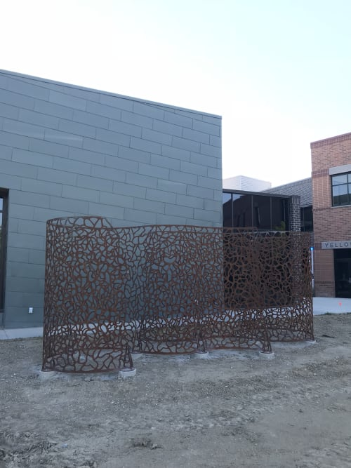 Public Sculptures by Jodie Roth Cooper/TBD Studio seen at Northwest College, Powell - Infinite Pattern Esses