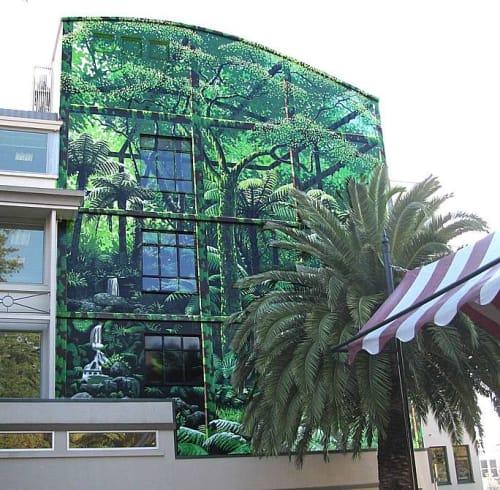 Street Murals by Christopher Finlayson seen at 295 Trafalgar Street, Nelson - Urban Jungle