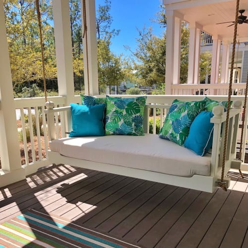 Furniture by Walker & Wood seen at Private Residence, Seaside - Porch Bed Swing