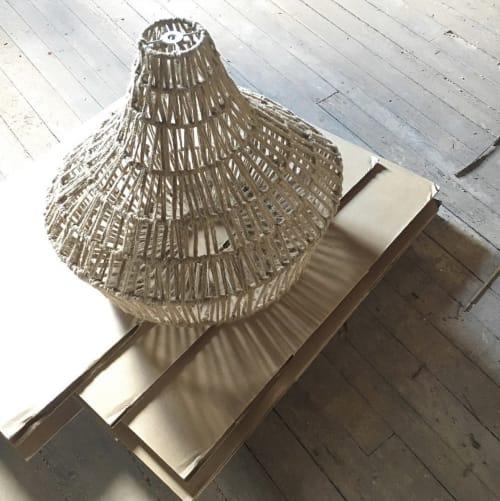 Pendants by Noevara seen at Private Residence, Philadelphia - Woven Jute pendants