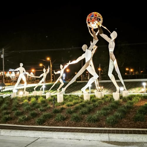 Public Sculptures by Canneto Studios seen at Summa Health System – Akron Campus, Akron - Healing Arts