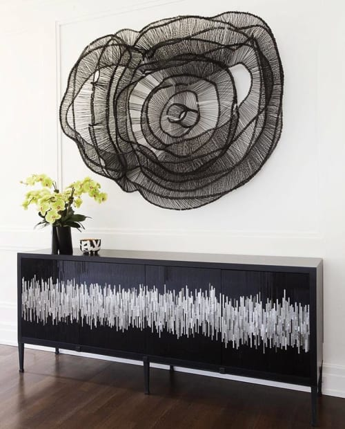 Furniture by Ercole seen at Private Residence, New York - Black and Silver Console