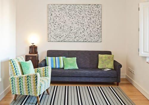 Murals by Ana Velez seen at Duque's Apartments, Lisboa - 5252