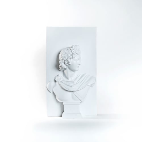 Sculptures by PichiAvo seen at Station 16 Gallery, Montréal - Apollo from the walls
