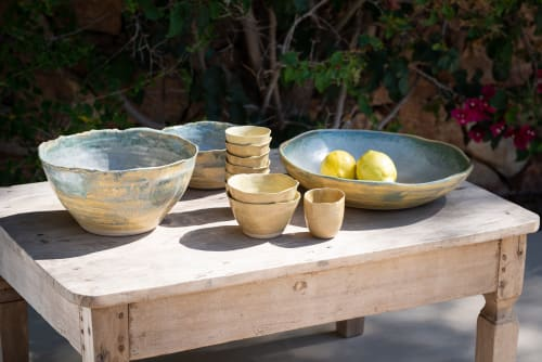 Tableware by Charlotte Ceramics seen at Private Residence, Ibiza - Stoneware ceramics tableware