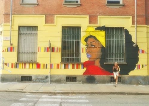 Street Murals by Stefania Gallina - MAPU Lab seen at Turin, Turin - The Queen - commisioned mural