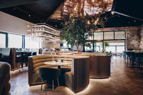 Interior Design by OMNII design seen at Finca, Rotterdam - Finca