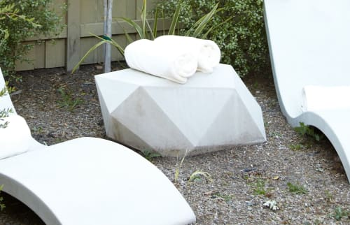 Benches & Ottomans by Concreteworks seen at Private Residence, San Francisco - Polytope