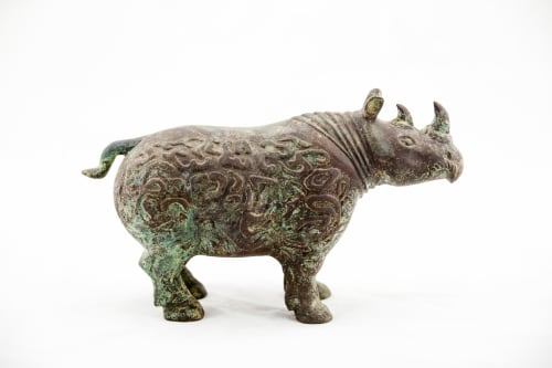 Sculptures by Lawrence & Scott - Rhino With Buried Patina