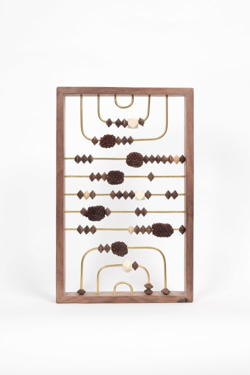 Sculptures by Wanda Gillespie seen at Private Residence, Auckland - Higher Consciousness Integrating Calculator (with Sheoak) 1