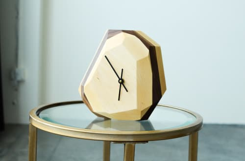 Wall Hangings by THE IRON ROOTS DESIGNS seen at Clients Residence - Portland, OR, Portland - Geometric Wall or Table Clock