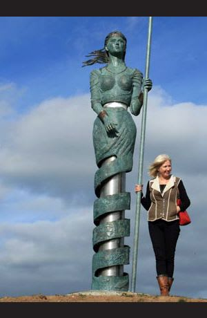 Public Sculptures by Ann Meldon Hugh seen at Dún Na Sí Amenity & Heritage Park, Moate - Motte Grainne Og