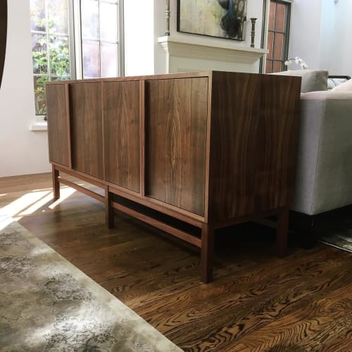 Furniture by Boyd and Allister seen at Private Residence, Santa Fe - Walnut Sideboard