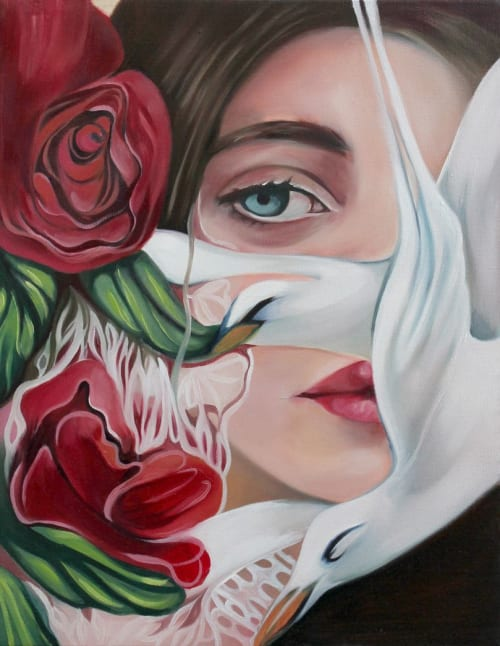 """Paintings by Felicia Cirstea seen at Private Residence, Toronto - """"Gone"""", Oil Painting"""