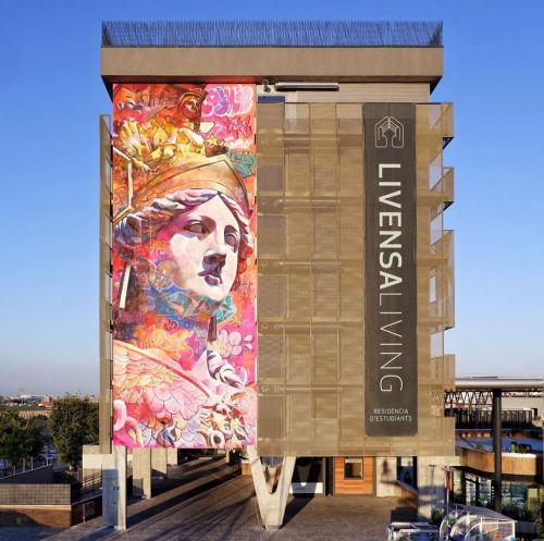 Street Murals by PichiAvo seen at Esplugues de Llobregat, Esplugues de Llobregat - ATHINA