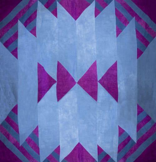 Linens & Bedding by Storyteller Studio seen at Webster, Webster - Southwest Linen Quilt and Maze Pillow