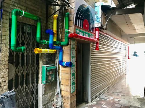 Public Sculptures by Kuenlin Tsai seen at Zhongzheng Road - A Sound Business