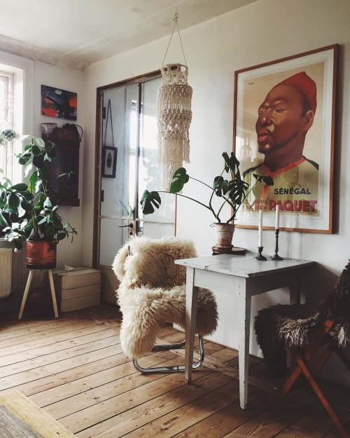 Macrame Wall Hanging by Modern Macramé by Emily Katz seen at Private Residence, Copenhagen - Macrame Lantern