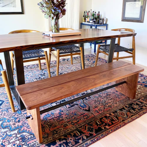 Benches & Ottomans by Workshop seen at Private Residence, Portland - Workbench 01 | Modern Shaker inspired dining bench
