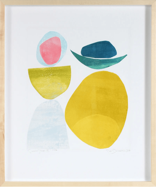 """Paintings by Rob Delamater seen at Serena & Lily Design Shop, San Francisco - """"Summer Stones II"""""""