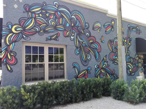 Murals by KEF! at The Overpass Merchant, Baton Rouge - Exterior Mural