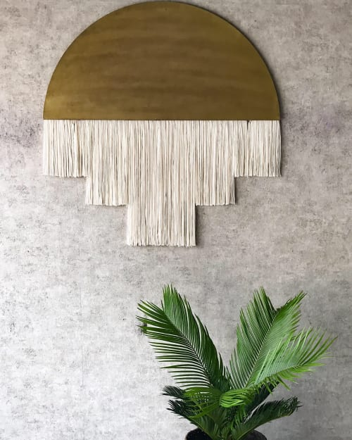 Macrame Wall Hanging by Vita Boheme Studio seen at Private Residence, Fort Worth - CLEO