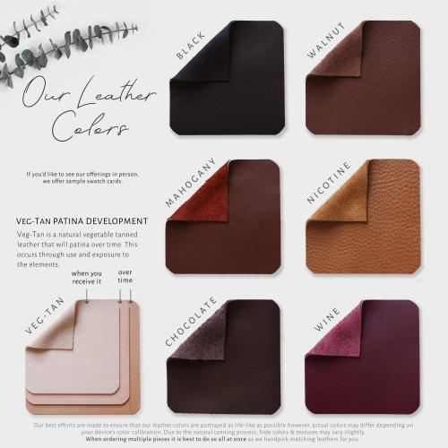 Veg-Tan Leather Handle [Flat End] | Hardware by Keyaiira | leather + fiber | Artist Studio in Santa Rosa