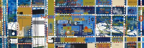 "Paintings by Princess Simpson Rashid seen at Leich & Associates, CPA, PA, Tampa - ""Abacus: The History of Counting"""