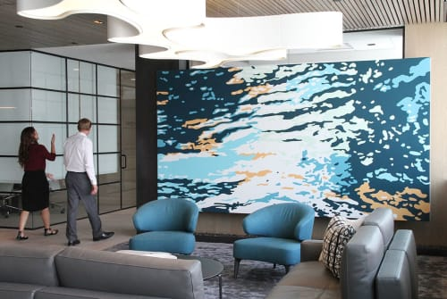 Murals by Mindy Bray seen at Husch Blackwell, Denver - Flood of '65