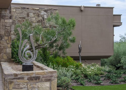 Sculptures by The Sculpture Studio LLC seen at Private Residence, Paradise Valley - Flame