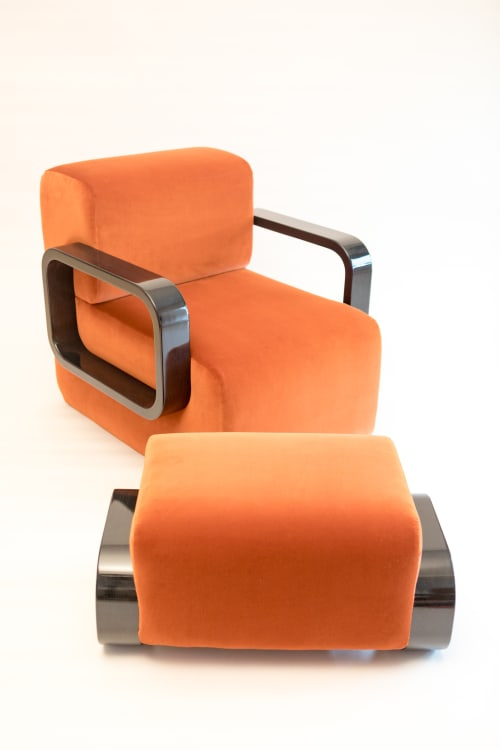 Chairs by Marie Burgos Design at Independent Lodging Congress, in the William Vale NYC, Brooklyn - Cayenne Lounge Chair