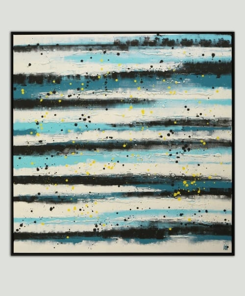 Paintings by Ronald Hunter seen at Roxier Art Gallery, Rotterdam - Blue Lined Pictures - Incl Frame