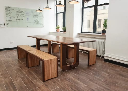 Tables by HerlanderArt seen at goTenna, Brooklyn - Tables and Benches