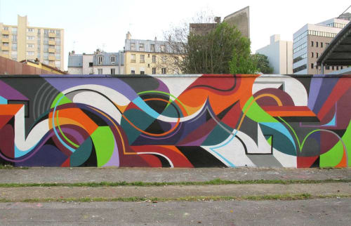 Murals by MATT W. MOORE seen at Paris, Paris - MWM Organic.