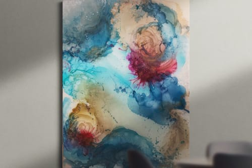 Paintings by Amanda M Moody seen at Private Residence, Darien - learn by fire