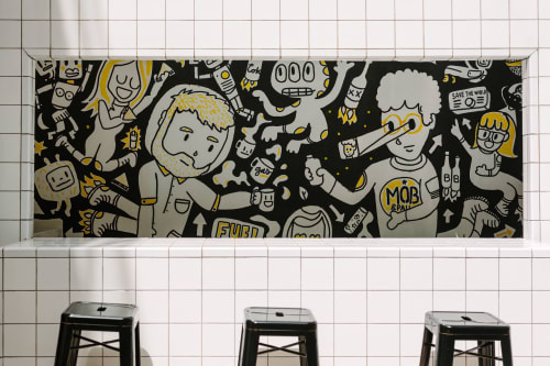 Murals by Pabs seen at MOB Pau - Coworking in Barcelona, Barcelona - Space Bar