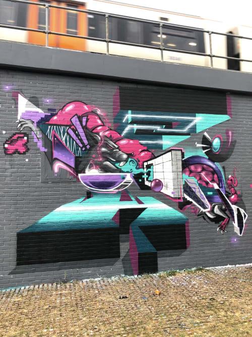 Murals by Le Funky seen at London, London - London Sandwich