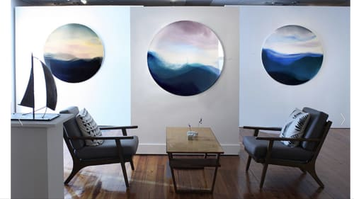 Paintings by Marina Dunbar seen at Miller Gallery, Charleston, Charleston - As long as seagulls sought the sea