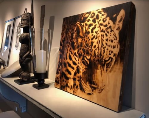 Paintings by Hollie Berry seen at Private Residence, Chattanooga - Hunter's Gaze Painting
